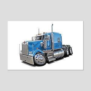 Kenworth W900 Lt Blue Truck Mini Poster Print
