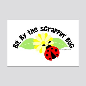 Bit By The Scrappin' Bug Mini Poster Print