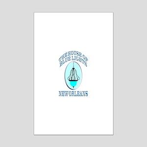 House of Blue Lights Mini Poster Print