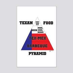 Texan Food Pyramid Mini Poster Print