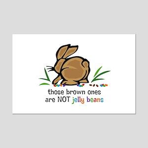 Brown Jelly Beans Mini Poster Print