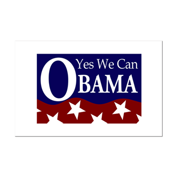 Obama Yes We Can 11x17 Poster Print Barack Obama 2008 Campaign Retro Irregular Liberal Bumper Stickers N Pins