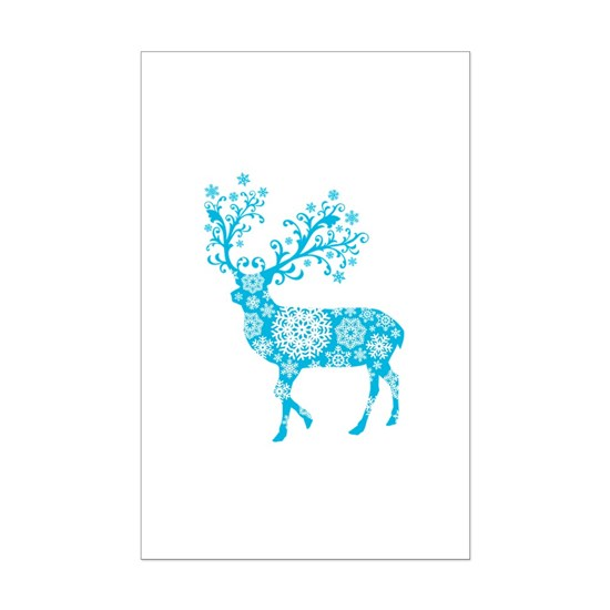 Blue Christmas deer