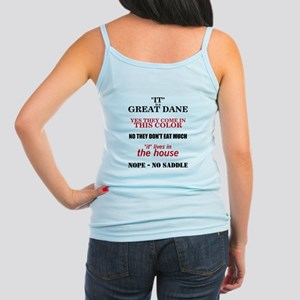 Great Dane Walking Bk Prnt Jr. Spaghetti Tank Top