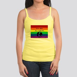 We are all equal rainbow earth Tank Top