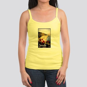 Antique Italy Amalfi Coast Travel Poster Tank Top