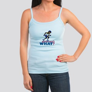 Blue Roller Derby Girl Jr. Spaghetti Tank