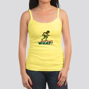 Green Roller Derby Girl Jr. Spaghetti Tank