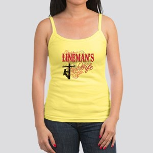 linemans wife3 white Jr. Spaghetti Tank