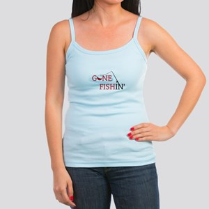 Gone fishing bobber and fishing pole Tank Top