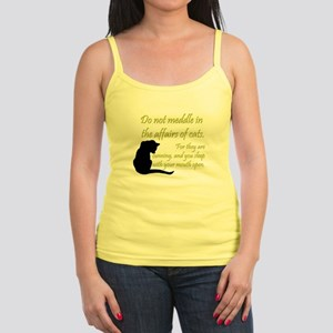 Don't Meddle with Cats Jr. Spaghetti Tank