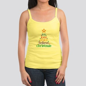 Joy Love Christmas Jr. Spaghetti Tank