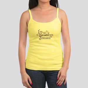 I'm Too Blessed To Be Stressed Jr. Spaghetti Tank