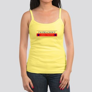 I'm Pro-Choice and I Vote! Spaghetti Tank
