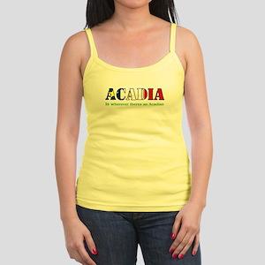 Acadia is where LARGE Jr. Spaghetti Tank