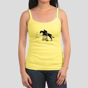 Cute I'd Rather Be Riding Horse Jr. Spaghetti Tank