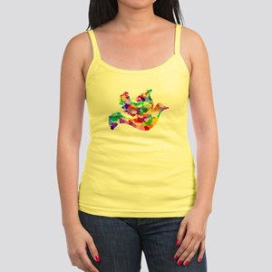 Rainbow Dove of Hearts Jr. Spaghetti Tank