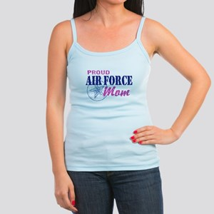 Proud Air Force Mom Jr. Spaghetti Tank