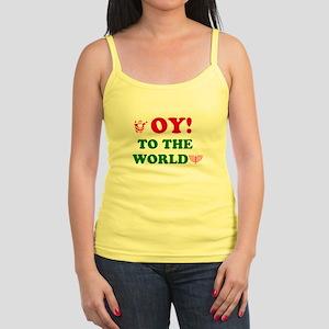 Oy To the World Jr. Spaghetti Tank