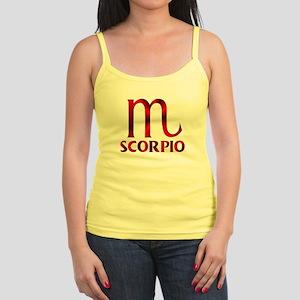 Red Scorpio Symbol Jr. Spaghetti Tank