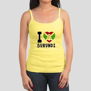 I Love Burundi Jr. Spaghetti Tank