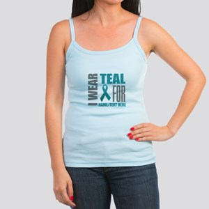 Teal Awareness Ribbon Customize Jr. Spaghetti Tank