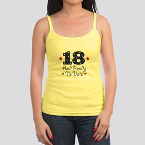 18 And Ready To Vote Jr. Spaghetti Tank
