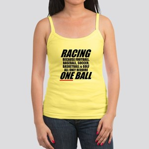 Why racing is a REAL sport Jr. Spaghetti Tank