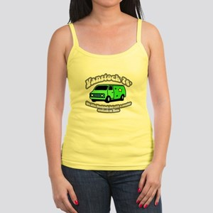 Vanstock 76 - White Text Jr. Spaghetti Tank