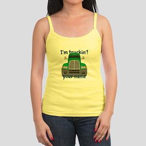Personalized Im Truckin Jr. Spaghetti Tank