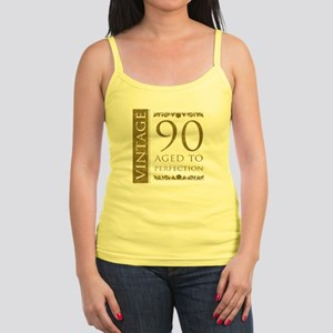 Fancy Vintage 90th Birthday Jr. Spaghetti Tank