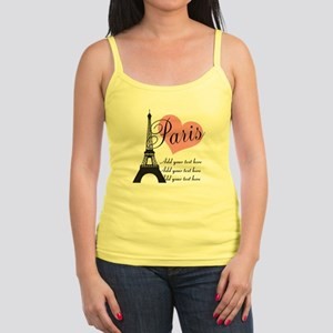 custom add text paris Jr. Spaghetti Tank