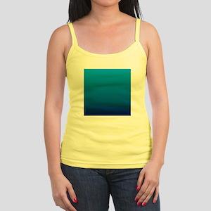 trendy ombre blue Tank Top