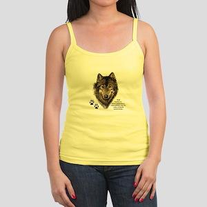 Wolf Totem Animal Guide Watercolor Nature Tank Top