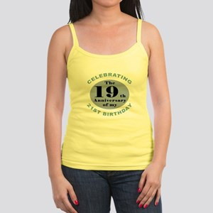 Funny 40th Birthday Jr. Spaghetti Tank