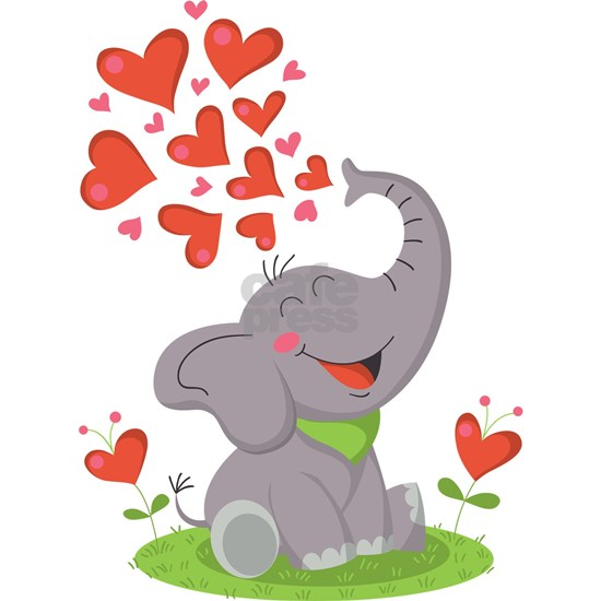 Elephant with Hearts