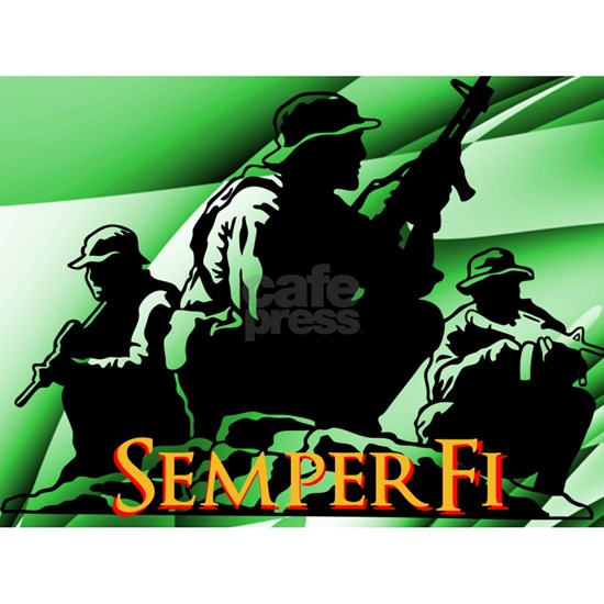 Semper Fi Abstract Hitch Cover