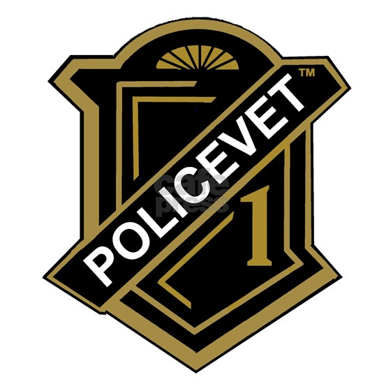 POLICEVET DECAL 1b gold png