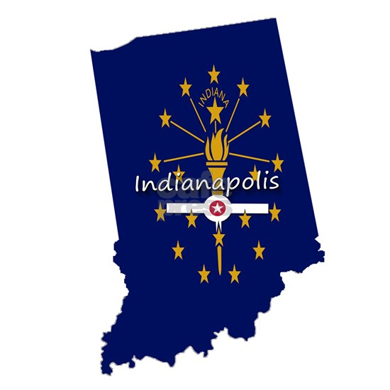 INDIANAPOLIS INDIANA FLAGS