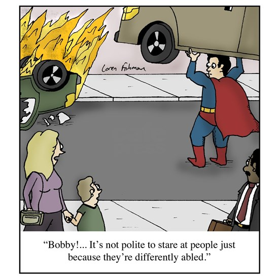"calling people ""Differently Abled"" cartoon"