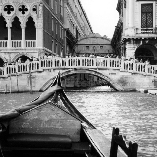Romantic Gondola Ride on Venice Italy Canal