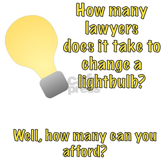 Lawyer lightbulb joke