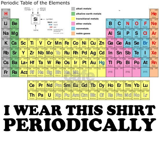 I wear this shirt periodically periodic table