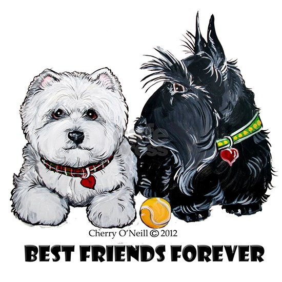 Westie Scottie Best Friends