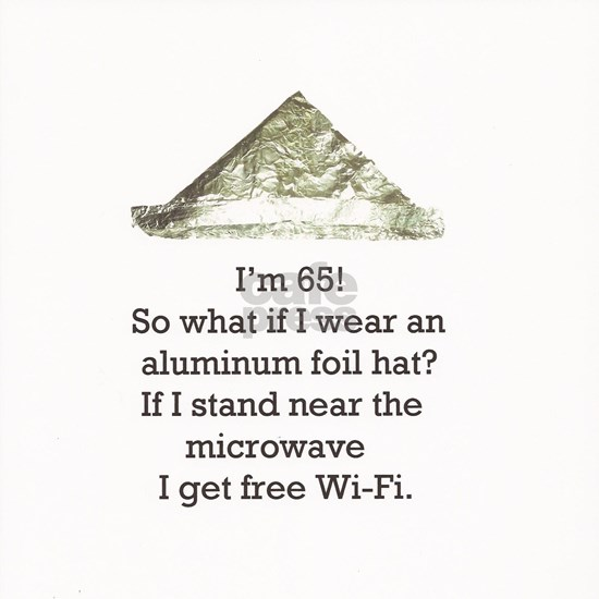 65th Birthday Aluminum Foil Hat