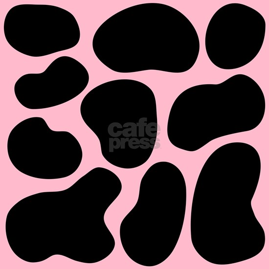 Pink and Black Cow Print.