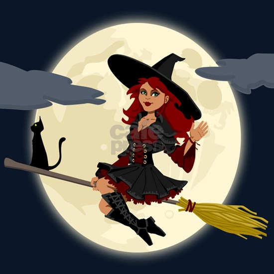 REDHEADED HALLOWEEN WITCH