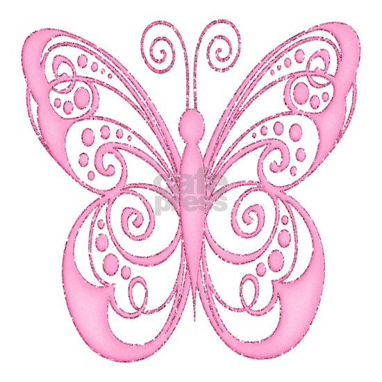 Pretty Pink Filigree Butterfly