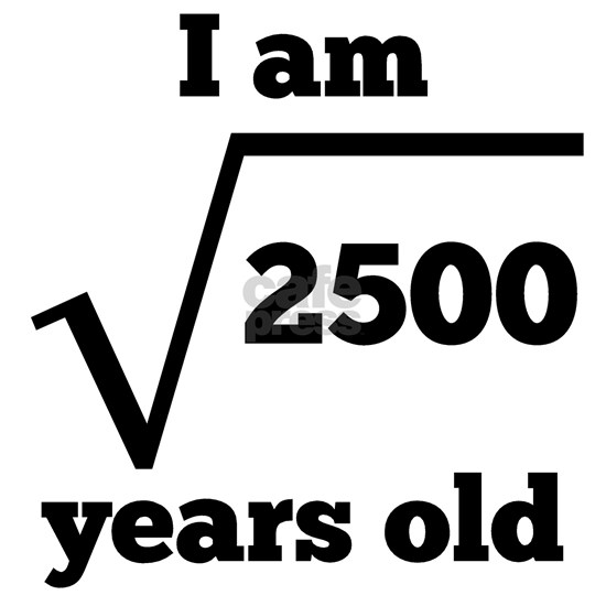 50th Birthday Square Root