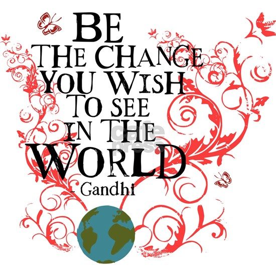 Be the Change Earth - Red